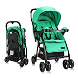 LuvLap Joy Stroller/Pram, Compact and Easy Fold, for Newborn Baby/Kids, 0-3 Years (Green)