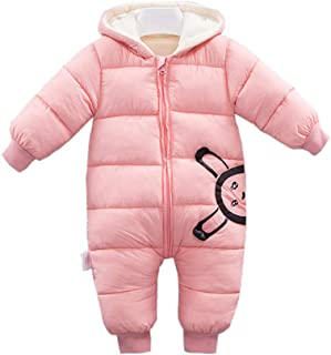 Fairy Baby Infant Baby Unisex Winter Thick Fleece Romper Hood Jumpsuit Outwear Snowsuit