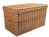 Baúl de mimbre marrón, 60 cm. Rattan im Trend - Cesta de mimbre