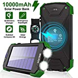 Solar Charger Power Bank- Portable Solar Charger IPX4 Waterproof Outdoor...