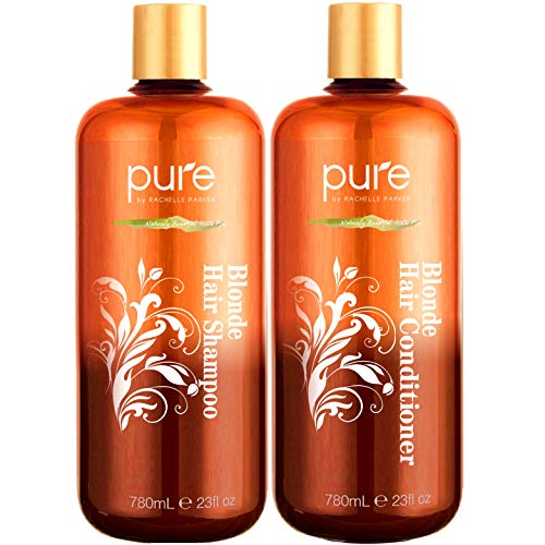 Shampoo and Conditioner for Blonde Hair. Protects & Balances- Shampoo and Conditioner for Color Treated Hair, Blonde, Bleached & Highlighted Hair. Sulfate Free Shampoo & Conditioner Set by Pure