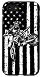 iPhone SE (2020) / 7 / 8 US Flag Dirt Bike Motorcycle Bike Moto Braap Gift Motocross Case