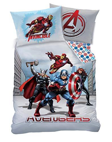 Marvel - Set copripiumino, in policotone, multicolore, una piazza
