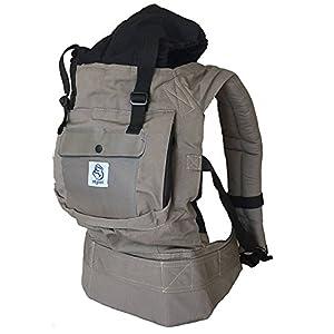 Mochila portabebes para llevar a tu bebe Manos libres – Portabebes de diseño Ergonómico con Múltiples posiciones – Se…