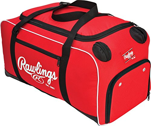 "Rawlings Covert Player Duffle Bag, Royal, Scarlet (COVERT-S-RAW),, 26""L x 13""W x 13""H"