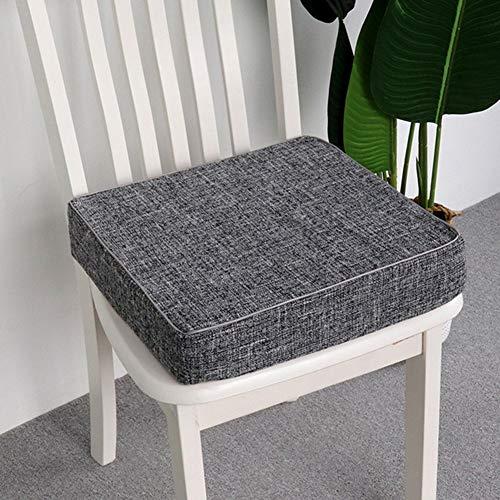 BoruisX - Cojín acolchado para asiento de silla, espuma viscoelástica, ideal para jardín, patio, cocina, comedor, gris oscuro, 45*45*5cm