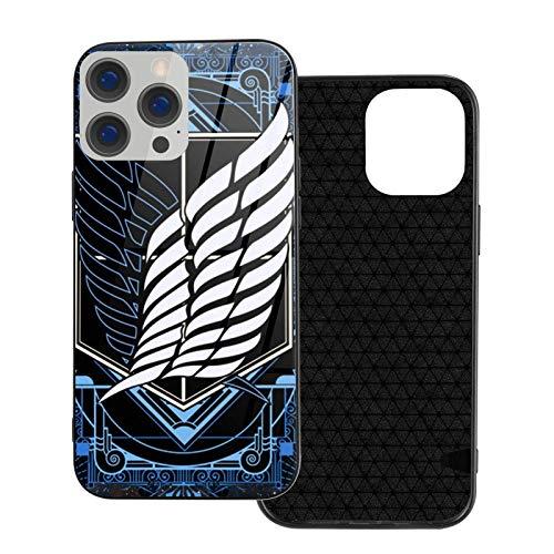 Compatible con iPhone 12/11 Pro MAX 12 Mini SE X/XS MAX XR 8 7 6 6s Plus Funda Attack on Titan Logo Vidrio Cajas del Teléfono Cover