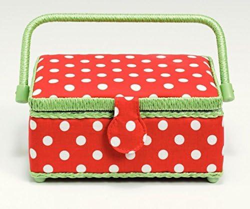 Prym Polka Dot Small Craft Green 5% OFF Storage Cheap sale White Box Red