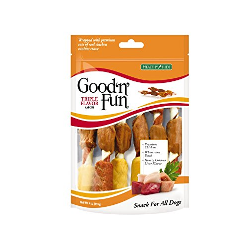 6-Count 4oz Good'n'Fun Kabobs Rawhide Dog Chews  $2.12 at Amazon