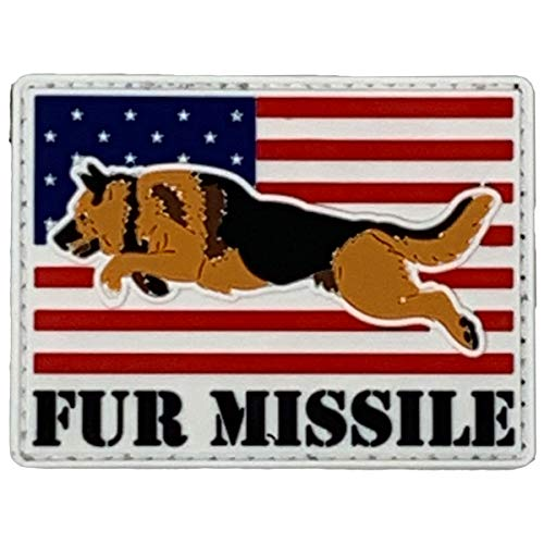 PatchOps Military Police K9 Fur Missile Flag PVC Tactical Morale Uniform Patch (Fur Missile Flag)