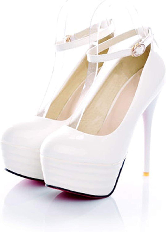 Romantic Style Sexy Stiletto High Heel Women's shoes Black White Big Size 21.527Cm