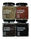 Sali Gourmet Molokai-Hawai: Sale Nero Black Lava Molokai-Hawaii (200g), Sale Rosso Alaea Molokai-Hawaii (200g), Sale Giada Bambú Molokai-Hawaii (200g), Sale Affumicato Molokai-Hawaii (200g)