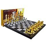 Zengqhui Conjunto de ajedrez clásico Conjuntos internacionales de ajedrez con el Tablero de ajedrez Plegable magnético de ajedrez enseñanza del Libro Juego de Mesa Juego para Adultos y niños