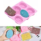 Seifenform, 3D Waben-Silikonform mit 6 Löchern, Cupcake Muffin Kerze Backform für selbstgemachtes...
