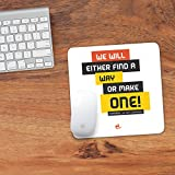 """Size : 8"""" X 8"""" Super Soft Foam Based Mousepad Anti-Skid Optical Lamination To Increase Accuracy Words that motivate you"""