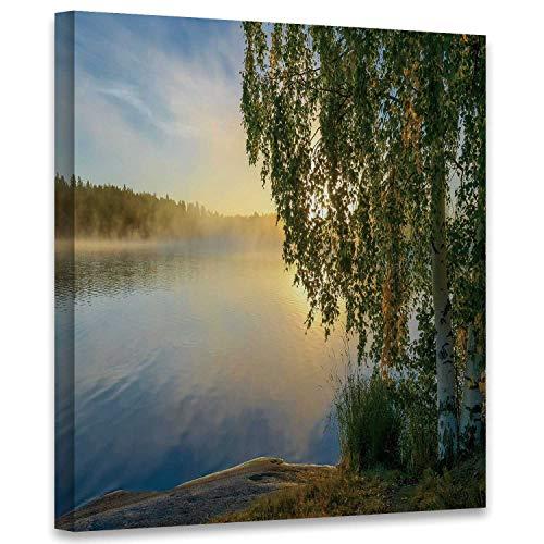 Hitecera and Misty Lake Scenery in …