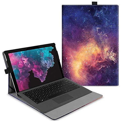 Fintie Hülle für Microsoft Surface Pro 7/ Pro 6/ Pro 5/ Pro 4/ Pro 3 12,3 Zoll Tablet - Multi-Sichtwinkel Hochwertige Tasche Schutzhülle aus Kunstleder, Type Cover kompatibel, Die Galaxie