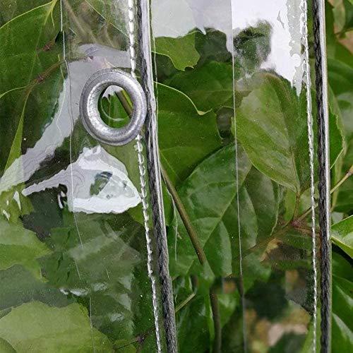 GONGSI Tarpaulina Transparente, Cubierta de Lona a Prueba de Intemperie Impermeable de PVC, para jardín al Aire Libre Gazebo Pared Lateral con Ojales, 14 tamaños (Color : Clear, Size : 1.8x2m)