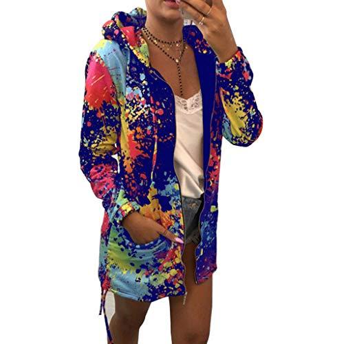 Innerternet Damen Mäntel Trenchcoat Classics Jacke mit Kapuze Elegant Revers Lose Langarm Outwear Tasche Reißverschluss Winterjacke Mode Kurz Coat