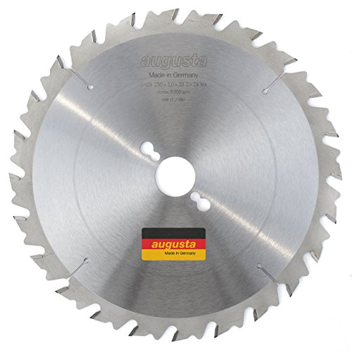 Augusta 052503024–Robusto multiusos metal de sierra circular 250x 3, 0x 30con 24dientes...