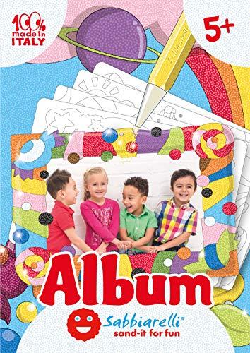 Sabbiarelli Sand-it for Fun - Album Die Bilderrahmen: 5 vorgeklebte Papier, zum bemalen mit Sand (Sand Nicht enthalten), Geeignet für Kinder Jahre 5+