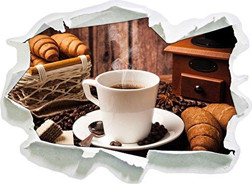 heißer aufgebrühter Kaffee , Papier 3D-Wandsticker Format: 92x67 cm Wanddekoration 3D-Wandaufkleber Wandtattoo