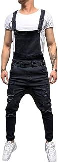 Huixin Jumpsuit Men Denim Pants Leisure Vintage Cargo Dungarees Men's Jeans Playsuit
