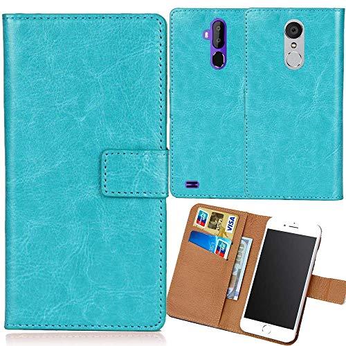 Dingshengk Azul Funda Caso Carcasa Proteccion Cuero Flip Case Cover Soporte para Maze Alpha X 6