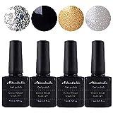 Allenbelle Esmaltes Permanentes Para Uñas Nail Art Soak Off UV LED Esmalte Permanente de gel (Lot 4 pcs 7.3ML/pc) 017