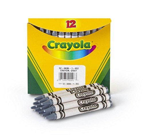 Crayola Crayons in Gray, Bulk Crayons, 12 Count (5208361052)