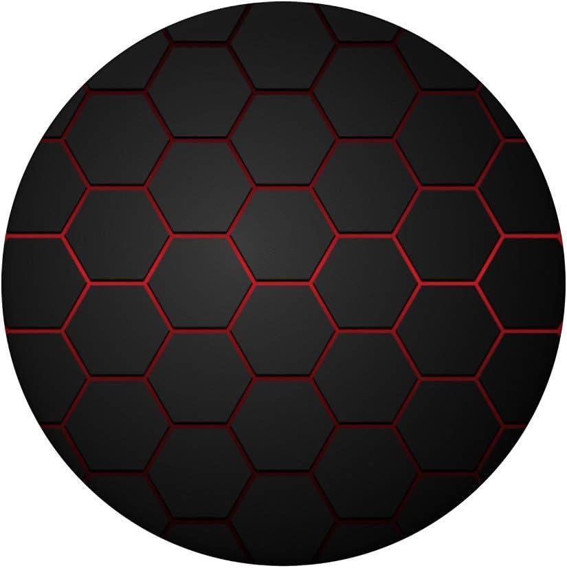 Agarre intercambiable para Tel/éfonos y Tabletas Hexagonal Red and Black Geometric Phone Popper PopSockets PopGrip
