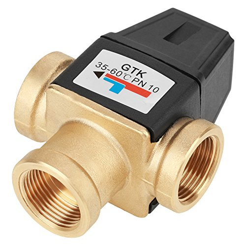 Válvula mezcladora termostática, Válvula mezcladora de 3 vías, Válvula, Calefacción por suelo radiante Dispositivos domésticos de agua caliente para agua caliente sanitaria Calentador de