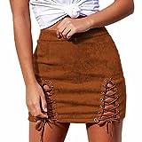 Damen Vmdonnadina Faux Suede Short Skirt Noos Rock
