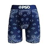 PSD Men's Brief Underwear Bottom (Blue/Blue Bandana, S)