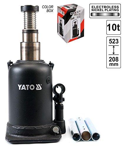10 T Tragkraft Hydraulik Stempelwagenheber Flaschenwagenheber 2-Stuffig Hoch