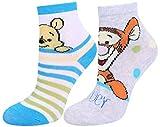 Photo de 2x chaussettes blanche et grise Winnie l'ourson Winnie the Pooh 15/18 EU