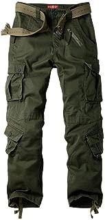 Alfiudad Women's Tactical Pants, Cotton Casual Cargo Work Pants Combat Trousers 8 Pockets