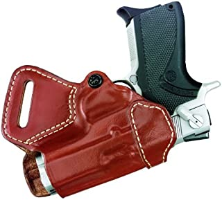 "Gould & Goodrich 806-195 Gold Line Small Of Back Holster (Chestnut Brown) Fits most 1911-type pistols with 4"" to 5"" bbl incl. BROWNING HP; COLT Commander, Elite, Gold Cup, Gov't; KIMBER Compact, Custom, Elite, Pro CDP; PARA-ORDNANCE P13, P14 .45, P15, P16; SPRINGFIELD Champion, Compact, 1911A1; WILSON Compact, Stealth, CQB"