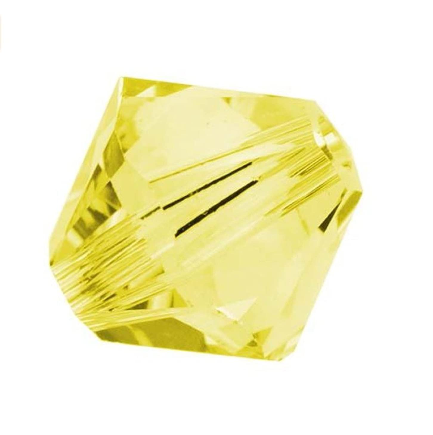 50pcs Genuine Preciosa Bicone Crystal Beads 6mm Citrine Alternatives For Swarovski #5301/5328 #preb629