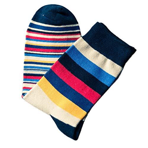 KPILP 1 Paar Men\'s Fashion Fashion Striped Baumwolle Freizeitsocken Socken atmungsaktive weiche dicke Socken Casual Socken Herbst Winter,Grün