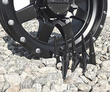 Blk 1//2 23 Lug Wheel Accessories Parts Install Kit Truck Spline Spike
