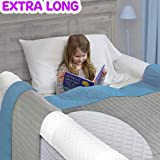 (1-Pack) Extra Long Bed Rail for Toddler | Soft Foam Bed Bumper for Kids | Baby Bed Guard...