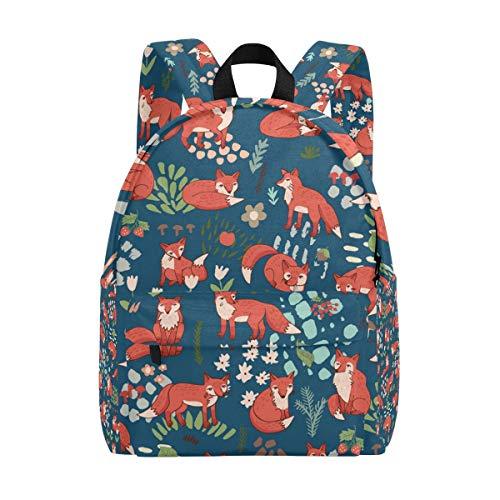 Sac à Dos Mignon Jungle Foxes Sac à Dos pour Les garçons et Les Filles Outdoor Casual Daypack