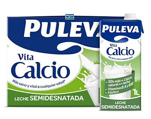 Puleva Vita Calcio Leche con Calcio Semidesnatada 6x1L