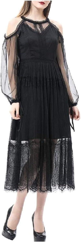 Abetteric Women Lace Princess Premium Oversize Maxi Bodycon Dress