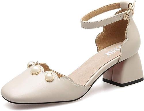 ZCW zapatos Casuales y versátiles, zapatos de mujer de Estilo británico, zapatos de Cabeza Cuadrada, zapatos de mujer Gruesos con Hebilla