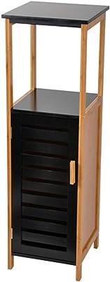 Maison Maligne Mueble de Baño en Madera de Bambú y MDF – Columna Baño Almacenamiento (
