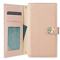 BASIO3 KYV43 ケース 手帳型 花 かわいい フラワー マグネット ベルト カバー (ピンク) au エーユー