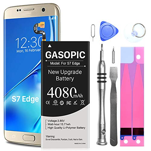 Galaxy S7 Edge Battery Replacement Kit, [Not for Galaxy S7] Upgraded 4080mAh Li-Polymer EB-BG935ABE Replacement Battery for Samsung Galaxy S7 Edge G935 G935V G935A G935T G935P with Complete Tool Kits
