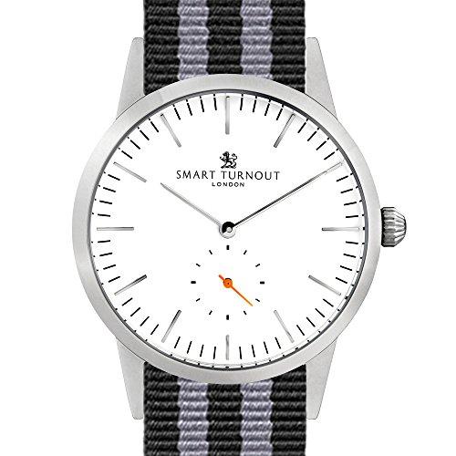 Smart Turnout Herren Analog Quarz Uhr mit Nylon Armband STK3/WH/56/W-NATO/55